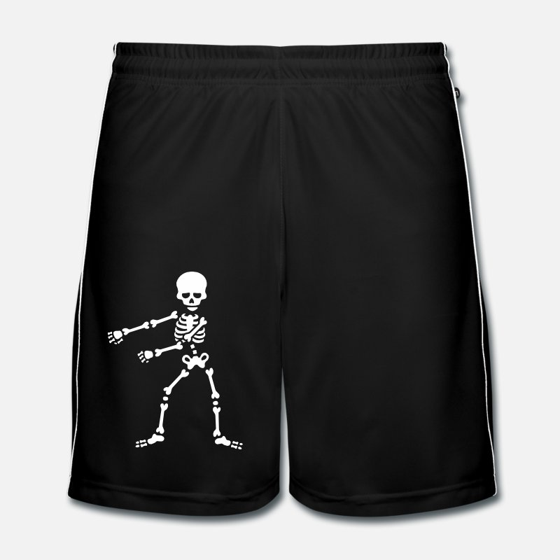 Présenter Pantalons et shorts - Floss like a boss flossing squelette dansant - Short de football Homme noir/blanc
