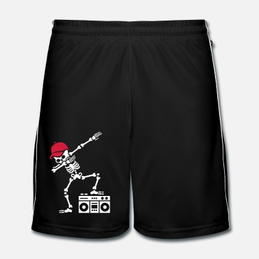 Dab dabbing skeleton boombox - Ghetto blaster - Short de football Homme