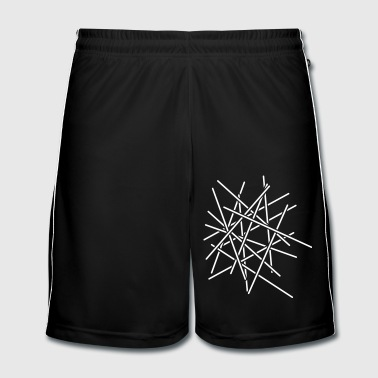 Sticks Chaos Design - Men's Football shorts