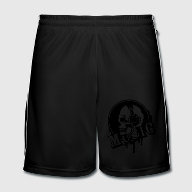 Dj A skull with headphone in profile - Men's Football shorts