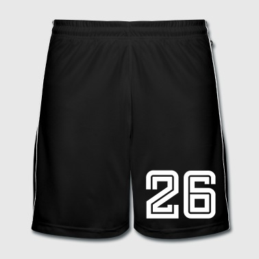 College Numbers, Nummern, Sports Numbers, 26 - Mannen voetbal shorts