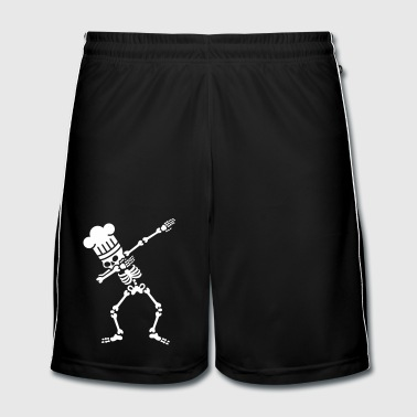 Dab dabbing skeleton BBQ cook / chef - Mannen voetbal shorts