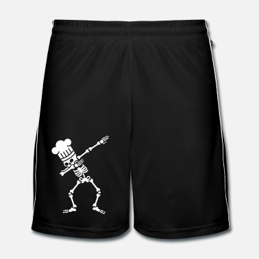Restaurant Dab dabbing skeleton BBQ cook / chef - Short de football Homme