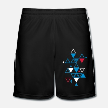 Tendance motif graphique de triangles - Short de football Homme