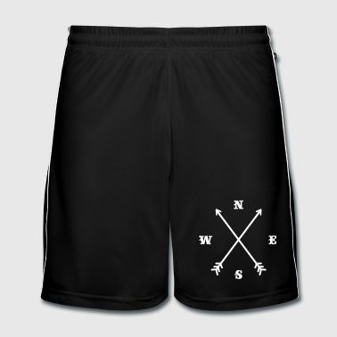 Hipster compass / Cross - Modern Trendy Outfit - Men's Football shorts