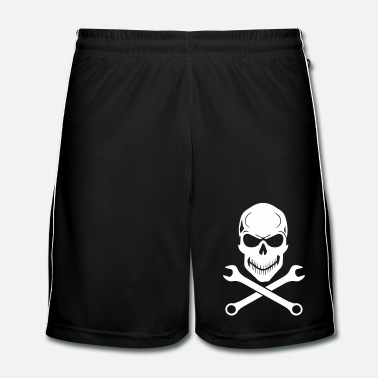 Motocross Car Tuning / Car & Bike Wrench - Skull - Pantaloncini da calcio uomo