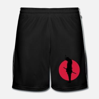 Judo Japan Samurai Warrior (Japan flagga)  - Fotbollsshorts herr
