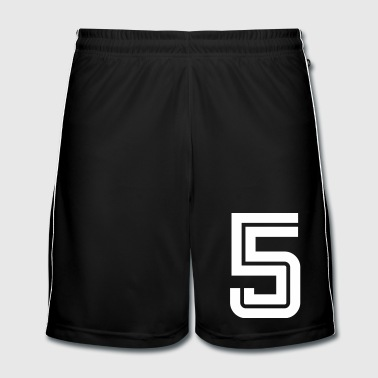 College Numbers, Nummern, Sports Numbers, 5 - Mannen voetbal shorts