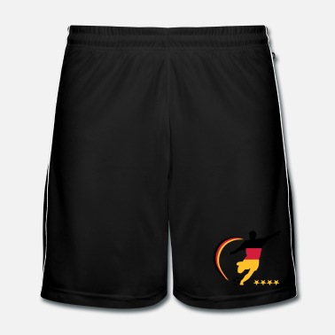 Silhouette Soccer Player Germany, colors freely selectable - Men's Football shorts