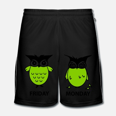 Uil friday and monday - Mannen voetbal shorts