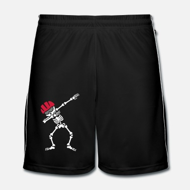 Bmx Dab dabbing skeleton bicycle mountainbike biker - Mannen voetbal shorts