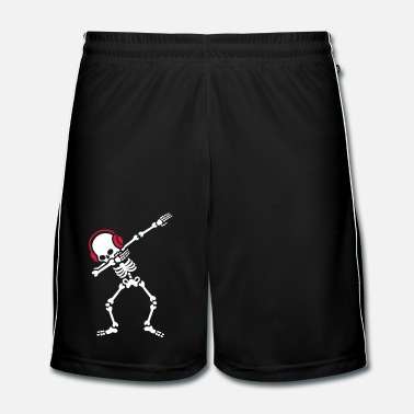 Heavy Metal Skelton Dab Dabben Headphones Music - Short de football Homme