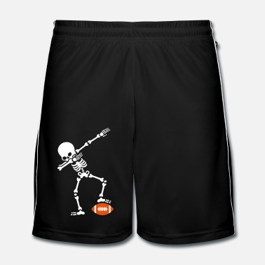 Touche Dab dabbing skeleton rugby - American football - Short de football Homme