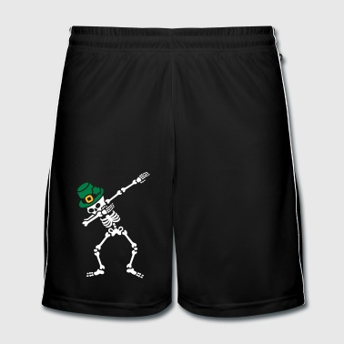 Dab skeleton dabbing St. Patrick's day - Men's Football shorts