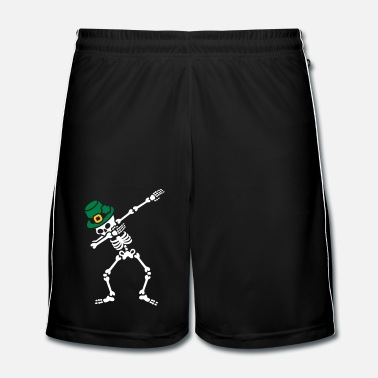 Ierland Dab skeleton dabbing St. Patrick's day - Mannen voetbal shorts