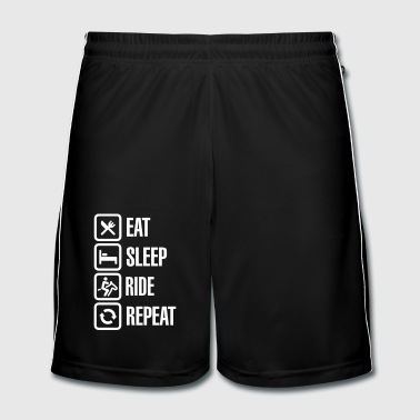 Eat sleeps horse ride repeat - Short de football Homme