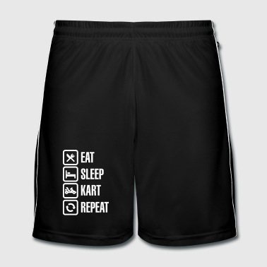 Eat sleep kart karting go-karts repeat - Fotballshorts for menn