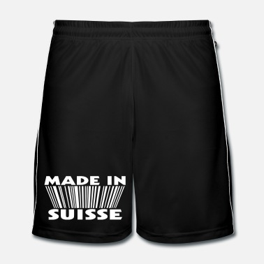 Né À Made in suisse 3D code - Short de football Homme