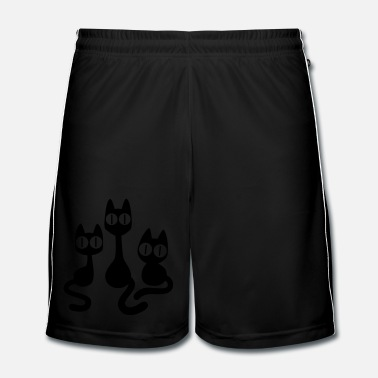 Cartoon Three Cartoon Cats by Cheerful Madness!! - Men's Football Shorts