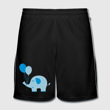 Sweet Funny Baby Elephant with Balloons - Men's Football shorts