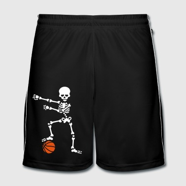 Basketball the floss dance flossing skeleton - Men's Football shorts