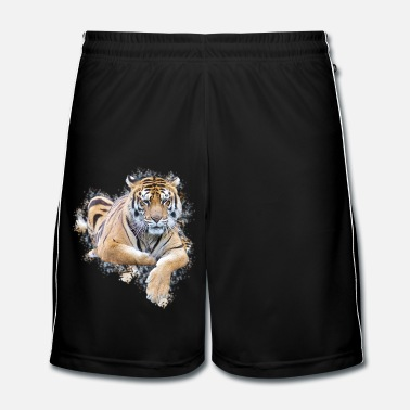 Touche Tigresse au repos contour artistique - Short de football Homme