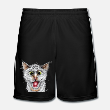 Encre Chat - Happy Cat - Short de football Homme