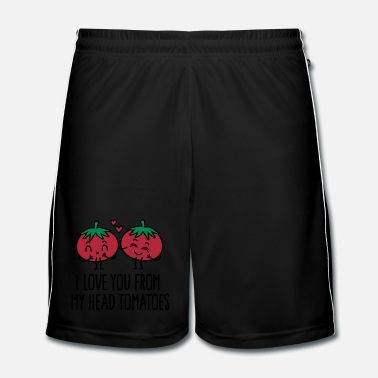 Paars I love you from my head tomatoes - Mannen voetbal shorts