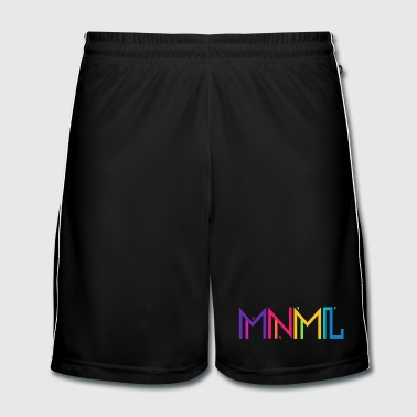 Minimal Type (Colorful) Typograhoy - MNML Design - Men's Football shorts