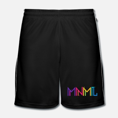 Trance Minimal Type (Colorful) Typograhoy - MNML Design - Men's Football Shorts