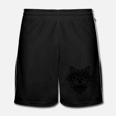 Black dangerous wolf  - Men's Football Shorts