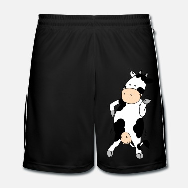 Cow Mooviestars - Hipster Cow - Men's Football Shorts