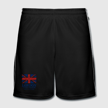 Union Jack - London - Vintage Look  - Männer Fußball-Shorts