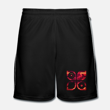 Art Graphique Abstract minimal geometry Hipster Art (Red Gold) - Short de football Homme