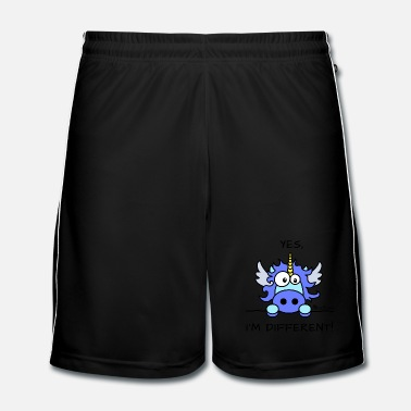 Divers Licorne Bleu - Yes, I'm different - Short de football Homme