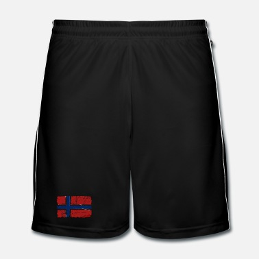 Skandinavia Norway Flag - Vintage Look  - Fotballshorts for menn