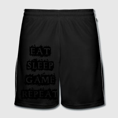 EAT SLEEP GAME REPEAT - Men's Football shorts