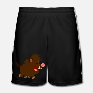Cartoon Joyous Cartoon Wild Boar by Cheerful Madness!! - Men's Football Shorts