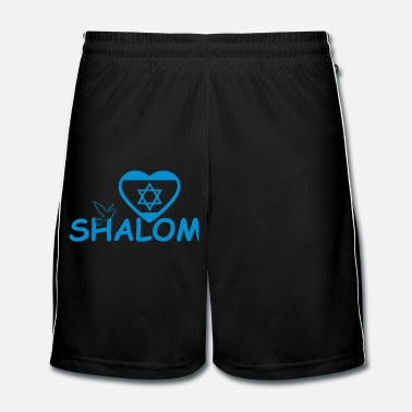 Shield Shalom - Peace for Israel - Men's Football Shorts