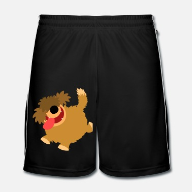 Cartoon Big Hairy Cartoon Dog by Cheerful Madness!! - Men's Football Shorts