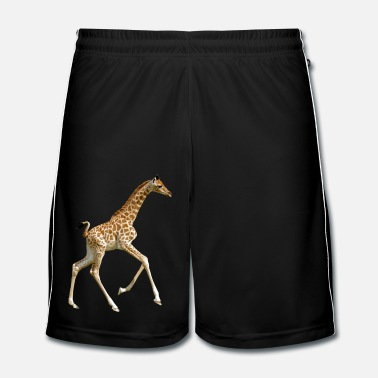 Girafe Isolated baby giraffe running - Short de football Homme