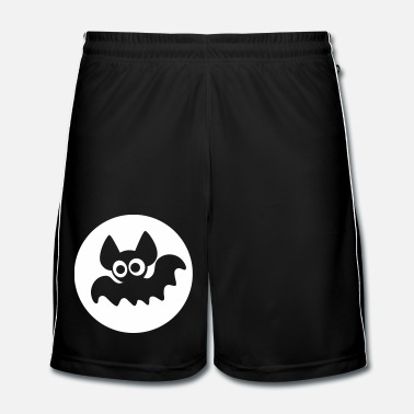 Moon Cute Cartoon Bat On Moon by Cheerful Madness!! - Men's Football Shorts