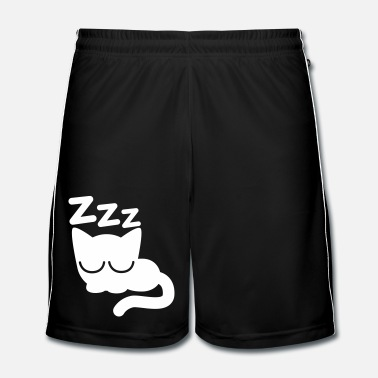 Cute Sleeping Cartoon Cat by Cheerful Madness!! - Men's Football shorts