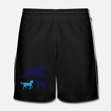 Colour Horses 3 colours - Men's Football Shorts