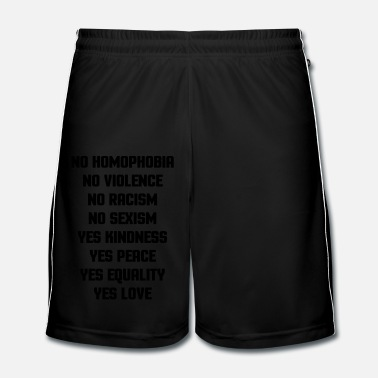 Couples No Homophobia  - Men's Football Shorts