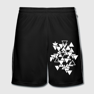 Triangles graphic pattern - Men's Football shorts