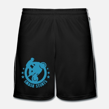 Stunt Smash stunts motorbike logo sport man - Men's Football shorts