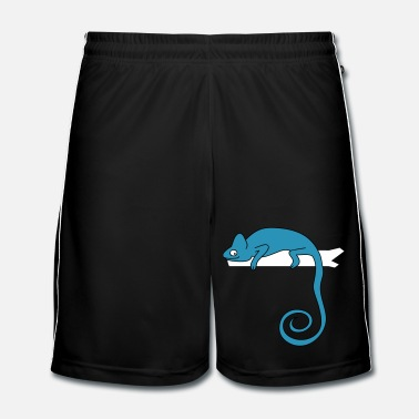 Lézard chameleon b - Short de football Homme