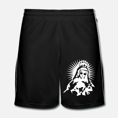 Virgin Mary with a pair of sunglasses - Men's Football Shorts