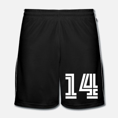 Sports College Numbers, Nummern, Sports Numbers, 14 - Mannen voetbal shorts